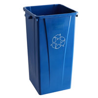 Carlisle 343523REC14 Centurian 23 Gallon Blue Square Recycling Bin