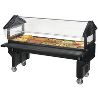 Carlisle 660803 Black 6' Six Star Open Base Portable Youth Food / Salad Bar