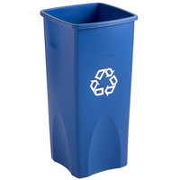Rubbermaid FG356973BLUE Untouchable 23 Gallon Blue Square Recycling Container