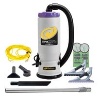 ProTeam 107607 Super QuarterVac 6 Qt. Backpack Vacuum with 107532 Tool Kit - 120V