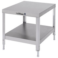 Lakeside 735 Stainless Steel Equipment Stand with Undershelf - 25 1/4 inch x 21 1/4 inch x 21 3/16 inch