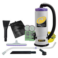 ProTeam 107425 Super QuarterVac 6 Qt. Backpack Vacuum with 107421 Tool Kit - 120V