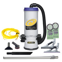 ProTeam 107604 Super CoachVac 10 Qt. Backpack Vacuum with 107532 Tool Kit - 120V