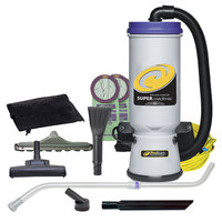ProTeam 107422 Super CoachVac 10 Qt. Backpack Vacuum with 107420 Tool Kit - 120V