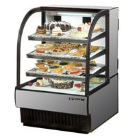True TCGR-31 31 inch Stainless Steel Curved Glass Refrigerated Bakery Display Case - 16.5 Cu. Ft.