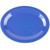 "Carlisle 3308214 Sierrus 12"" x 9 1/4"" Ocean Blue Oval Melamine Platter - 12/Case"