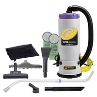 ProTeam 107424 Super QuarterVac 6 Qt. Backpack Vacuum with 107420 Tool Kit - 120V