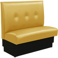 American Tables & Seating QAS-42TB-3-EVE-145 46 inch Husk Single Fully Upholstered Booth