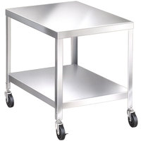 Lakeside 715 Stainless Steel Mobile Equipment Stand with Undershelf - 25 1/4 inch x 21 1/4 inch x 21 3/16 inch