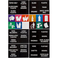 Carlisle 34RECLBL 8 Sheet Laminated Multi-Lingual Recycle Label Kit