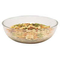Cambro RSB23CW135 40 Qt. Clear Camwear Round Ribbed Bowl