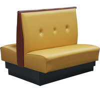 American Tables & Seating QAD-42TB-3-EVE-145 46 inch Husk Double Fully Upholstered 3 Button Booth