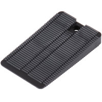 Wobble Wedge Tapered Black Hard Polypropylene Installation Table Wedge / Table Stabilizer - 300/Pack