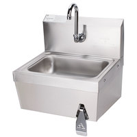 Advance Tabco 7-PS-62 Hands Free Hand Sink with Knee Operated Valve - 17 1/4 inch