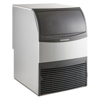 Scotsman UF424A-1 24 inch Air Cooled Undercounter Flake Ice Machine with ADA Compliant Floor Mount Kit - 440 lb.