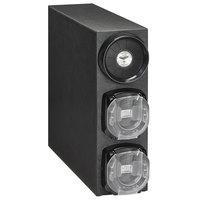 Vollrath G3V-LLC-(2CODES)-A 8 - 44 oz. Countertop 1 Slot Black Standard Adjustable Cup Dispenser Cabinet with 2 LidSavers™ 2 Dispensers