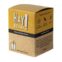 HAY! Straws 5 inch Natural Wheat Biodegradable Cocktail Straws - 500/Pack