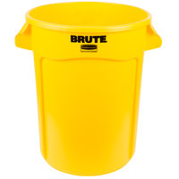 Rubbermaid FG263200YEL BRUTE 32 Gallon Yellow Trash Can