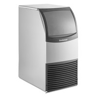 Scotsman CU0415MA-1 15 inch Air Cooled Undercounter Medium Cube Ice Machine with ADA Compliant Floor Mount Kit - 58 lb.