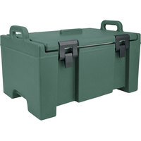 Cambro UPC100192 Granite Green Camcarrier Ultra Pan Carrier with Handles - Top Load for 12 inch x 20 inch Food Pans