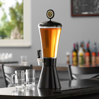 Beer Tubes COB-ST-STAP 1/4 128 oz. Super Tube Black Conic Beer Tower