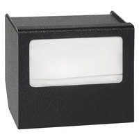 Vollrath MN-1 ModuServ Black Small Flush-Mount Napkin Dispenser