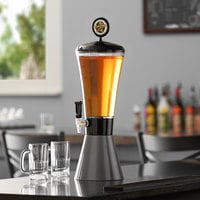 Beer Tubes COC-ST-STAP 1/4 128 oz. Super Tube Carbon Conic Beer Tower