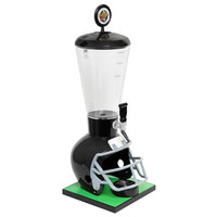 Beer Tubes FBK-ST-STAP 1/4 128 oz. Super Tube Black Football Helmet Beer Tower