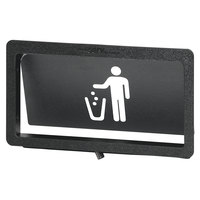 Vollrath MT-1.5 Black Medium Flush-Mount Trash Receptacle Door