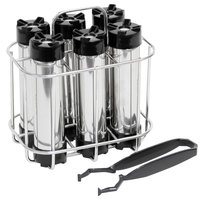 Beer Tubes CHR6 Chill Stick Rack with 6 Chill Sticks and Plastic Tongs