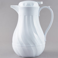 Choice 42 oz. White Swirl Thermal Coffee Carafe / Server