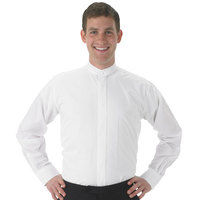 Henry Segal Men's Customizable White Long Sleeve Band Collar Dress Shirt - 4XL
