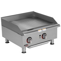 APW Wyott GGM-24i Workline 24 inch Countertop Griddle with Manual Controls and Safety Pilot - 50,000 BTU