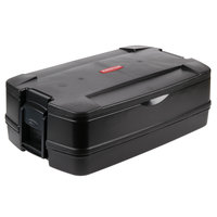 Rubbermaid 9406 CaterMax 29 1/2 inch x 19 inch x 10 5/8 inch Black Top Loading Insulated Single Food Pan Carrier
