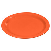 Carlisle 4350152 Dallas Ware 9 inch Sunset Orange Melamine Plate - 48 / Case