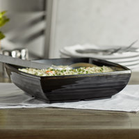 GET Milano 3 Qt. Black Square Bowl with Insert - 6/Case