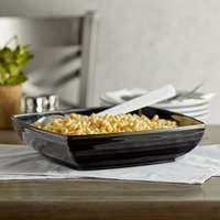 GET Milano 4 Qt. Black Square Bowl with Insert - 6/Case