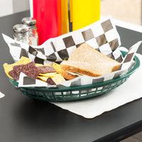 Tablecraft C1084FG Forest Green Jumbo Oval Polypropylene Fast Food Basket - 12/Pack