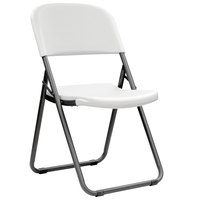 Lifetime 80155 White Contoured Folding Loop Leg Chair   - 4/Pack