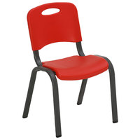Lifetime 80532 Stackable Red Children's Chair - 4/Pack