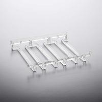 11 1/4 inch x 9 1/2 inch 3 Slot Acrylic Stemware Hanger Rack