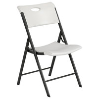 Lifetime 480625 Almond Folding Chair with Carrying Handle - 4/Pack