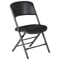 Lifetime 480621 Black Folding Padded Chair - 4/Pack