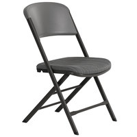 Lifetime 480426 Gray Folding Padded Chair - 4/Pack