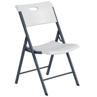 Lifetime 80643 White Folding Chair with Carrying Handle - 4/Pack
