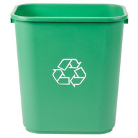 28 Qt. Green Recycling Wastebasket