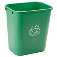 Continental 2818-2 28 Qt. / 7 Gallon Green Rectangular Recycling Wastebasket / Trash Can