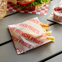 Carnival King 3 1/2 inch x 4 1/2 inch Small Printed French Fry Bag - 2000/Case