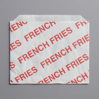 Carnival King 3 1/2 inch x 4 1/2 inch Small Printed French Fry Bag - 500/Pack