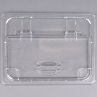Cambro 20CWLN135 Camwear 1/2 Size Clear Polycarbonate FlipLid with Spoon Notch